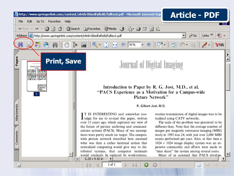 Article - PDF Print, Save