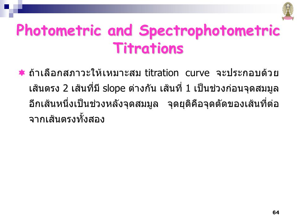 Photometric and Spectrophotometric