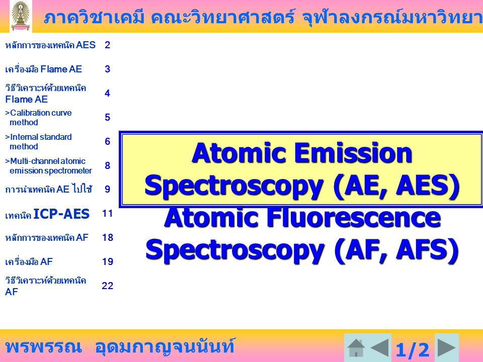 Atomic Emission Spectroscopy (AE, AES)