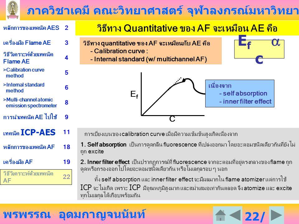 วิธีทาง Quantitative ของ AF จะเหมือน AE คือ