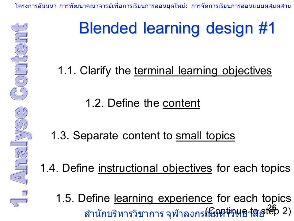 Blended learning design #1