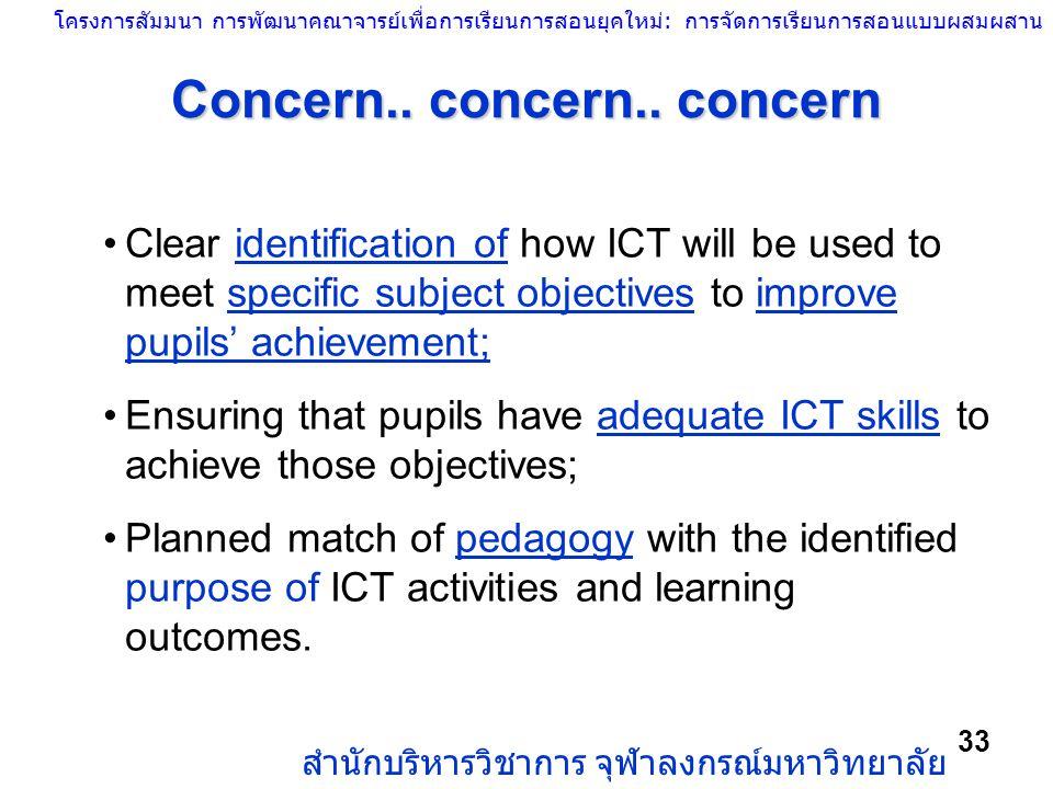 Concern.. concern.. concern