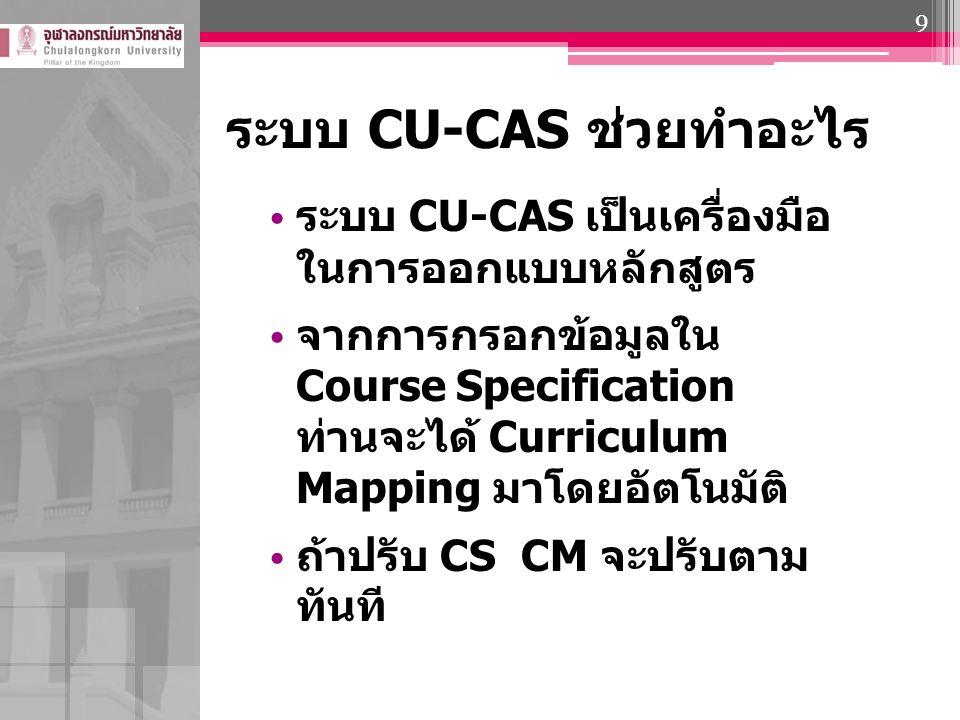 ระบบ CU-CAS ช่วยทำอะไร