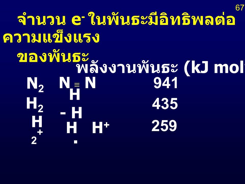 พลังงานพันธะ (kJ mol-1)