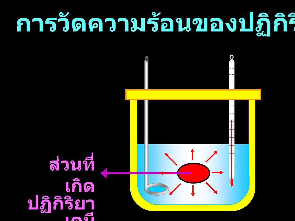 การวัดความร้อนของปฏิกิริยาเคมี