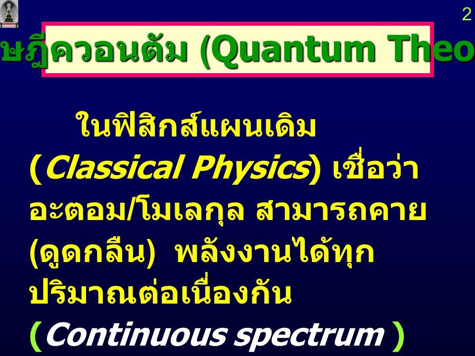 ทฤษฎีควอนตัม (Quantum Theory)