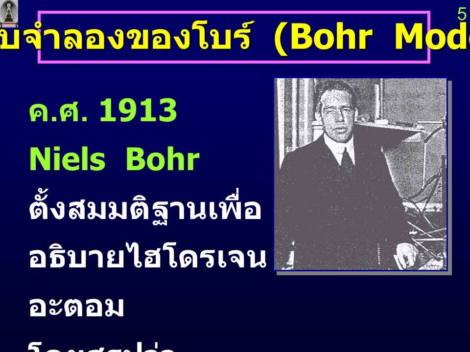 แบบจำลองของโบร์ (Bohr Model)