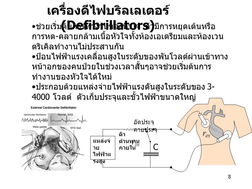 เครื่องดีไฟบริลเลเตอร์ (Defibrillators)