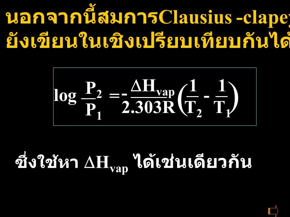 ) ( นอกจากนี้สมการClausius -clapeyron ยังเขียนในเชิงเปรียบเทียบกันได้