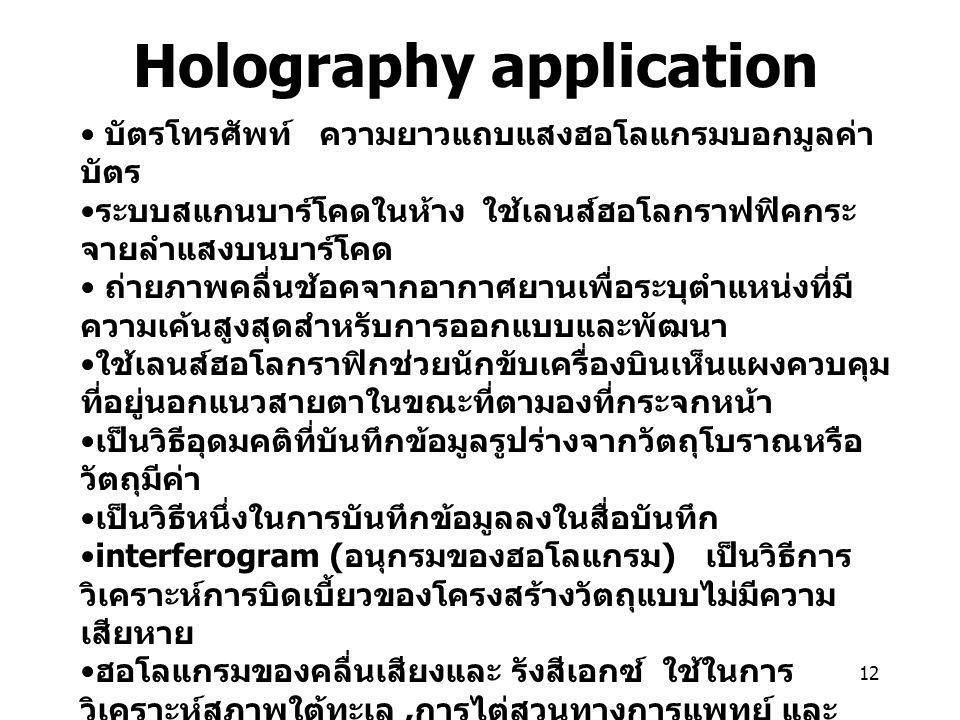 Holography application