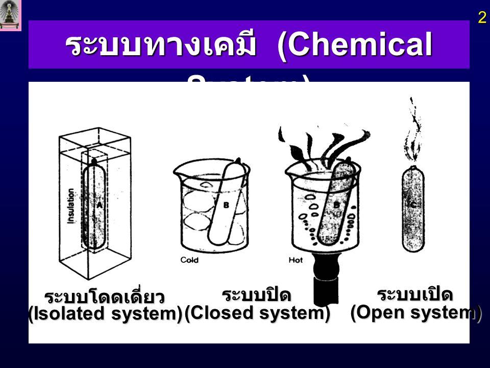 ระบบทางเคมี (Chemical System)