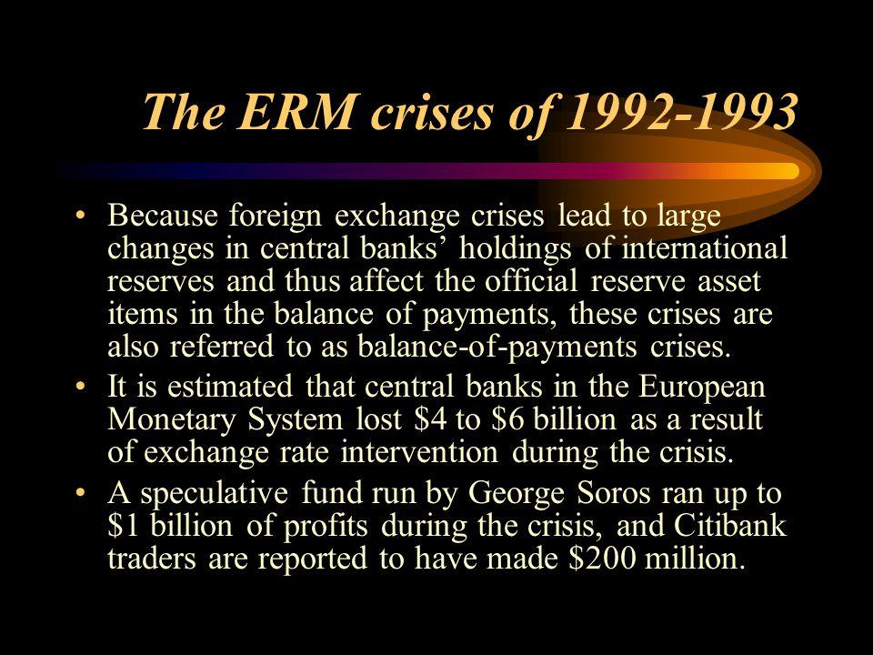 The ERM crises of 1992-1993
