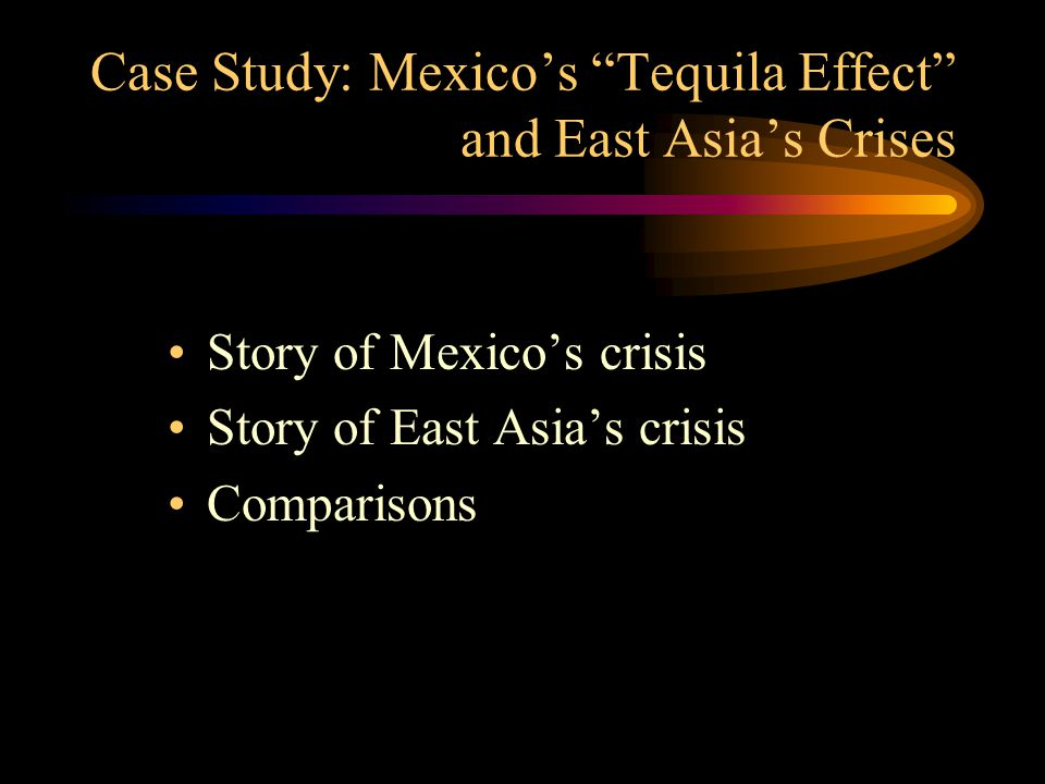 Case Study: Mexico's Tequila Effect and East Asia's Crises