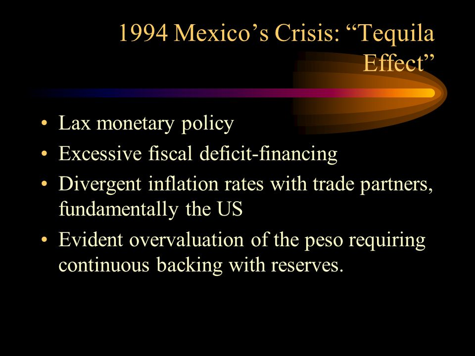 1994 Mexico's Crisis: Tequila Effect