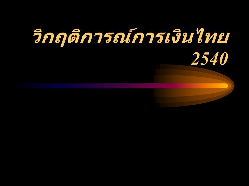 วิกฤติการณ์การเงินไทย 2540