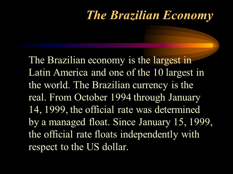 The Brazilian Economy
