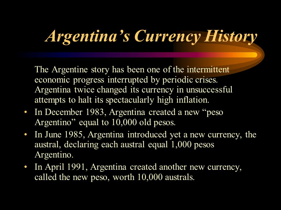 Argentina's Currency History