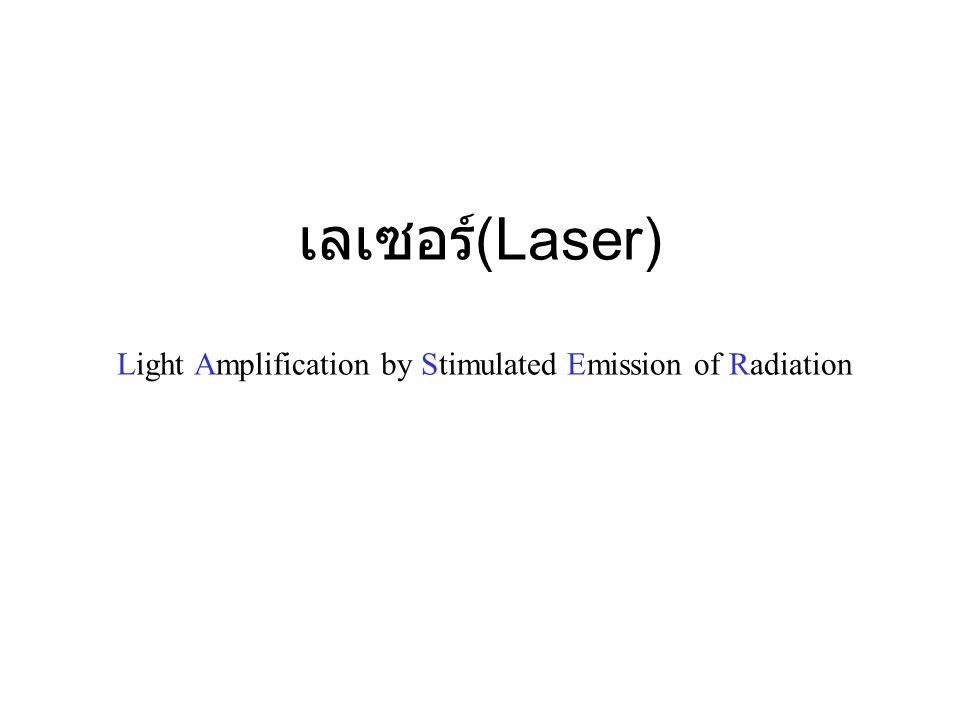 เลเซอร์(Laser) Light Amplification by Stimulated Emission of Radiation