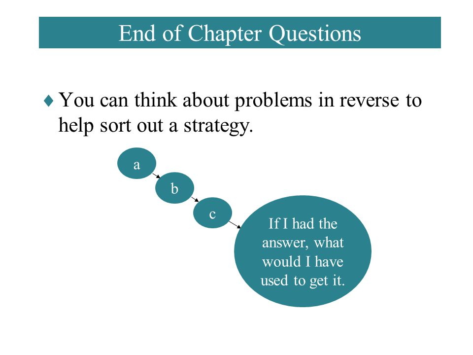 End of Chapter Questions