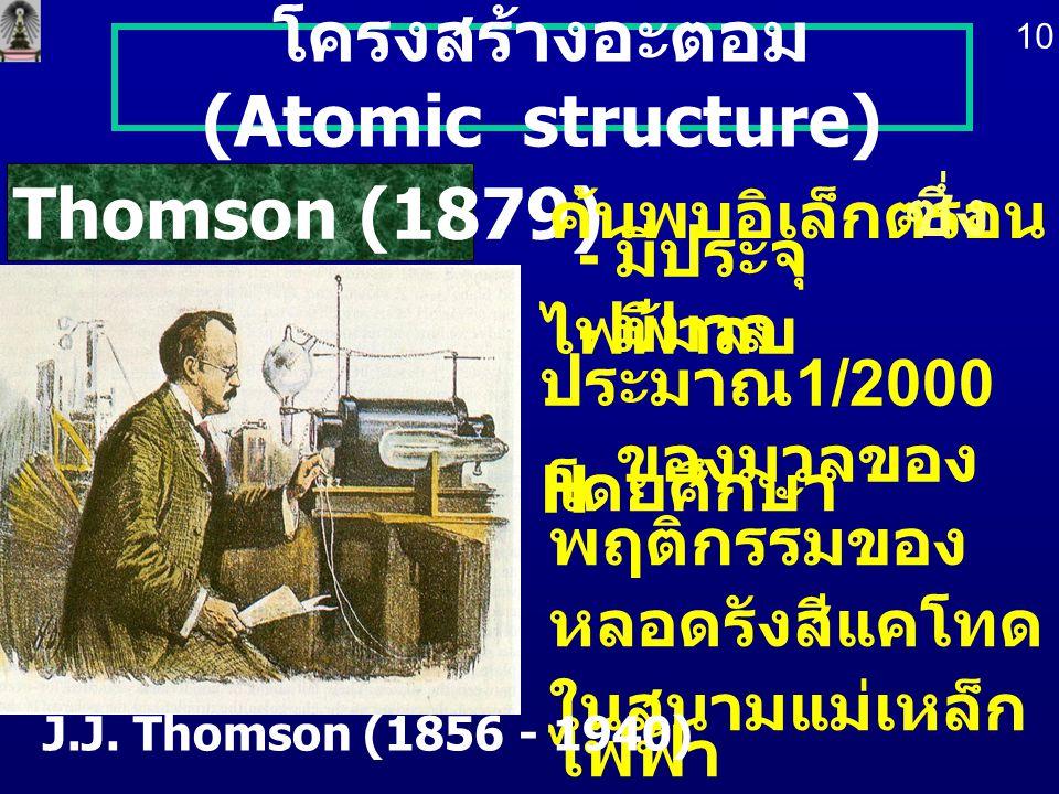 โครงสร้างอะตอม (Atomic structure)