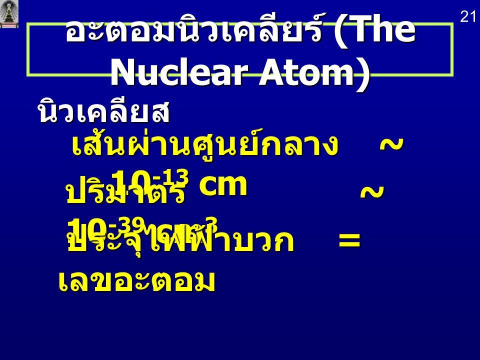 อะตอมนิวเคลียร์ (The Nuclear Atom)