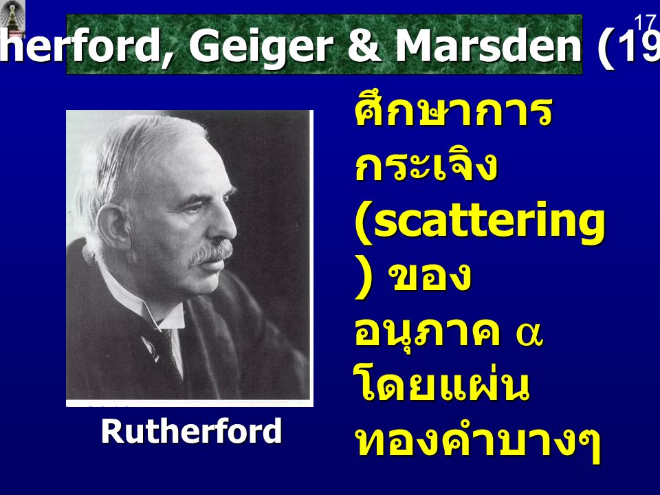 Rutherford, Geiger & Marsden (1911)