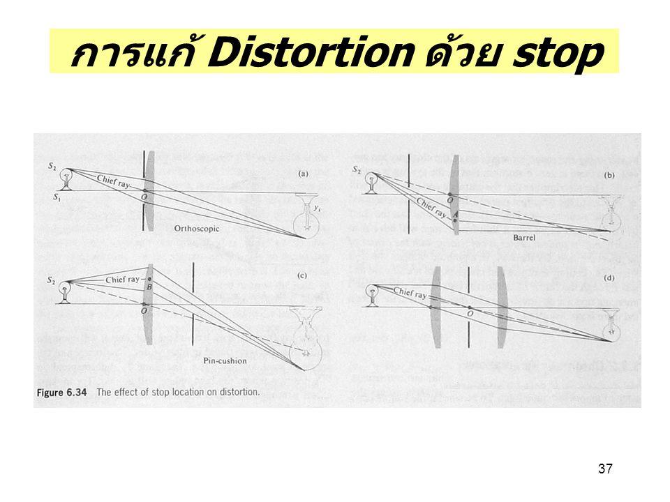 การแก้ Distortion ด้วย stop