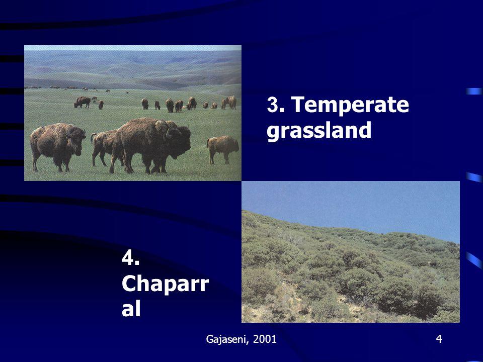3. Temperate grassland 4. Chaparral Gajaseni, 2001