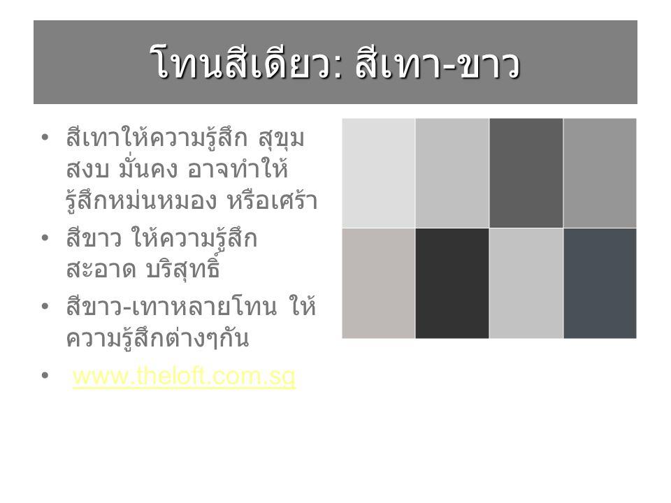 โทนสีเดียว: สีเทา-ขาว