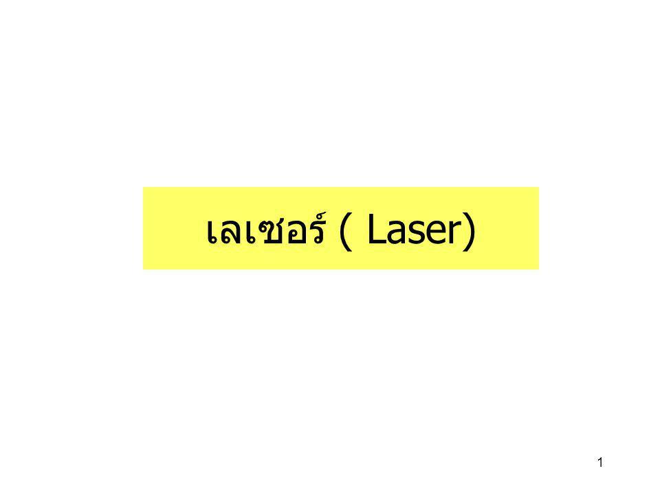 เลเซอร์ ( Laser)
