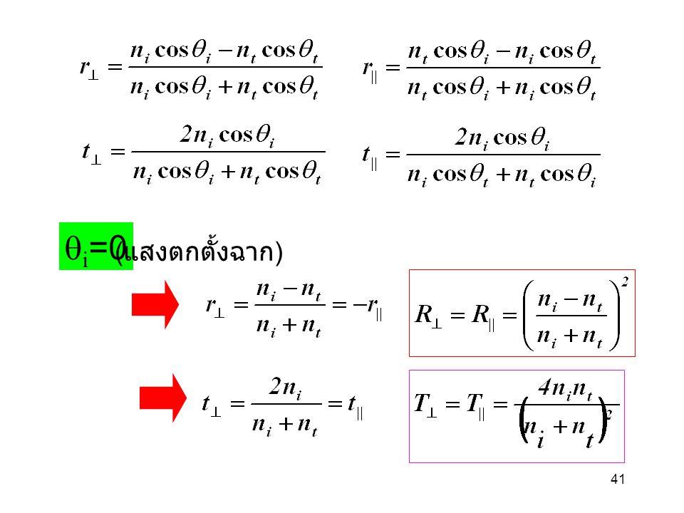 qi=0 (แสงตกตั้งฉาก)