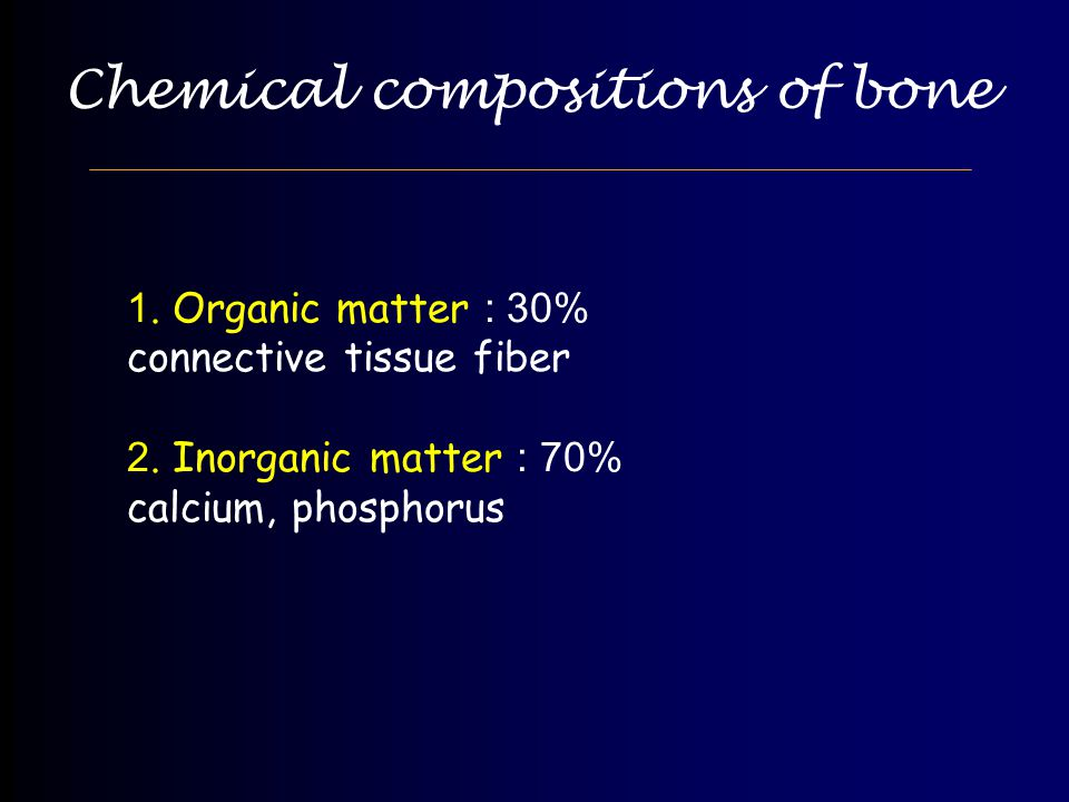 Chemical compositions of bone
