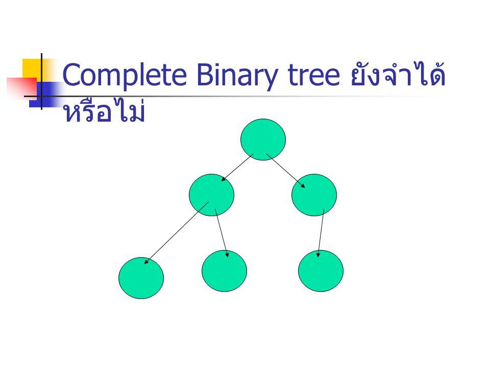 Complete Binary tree ยังจำได้หรือไม่