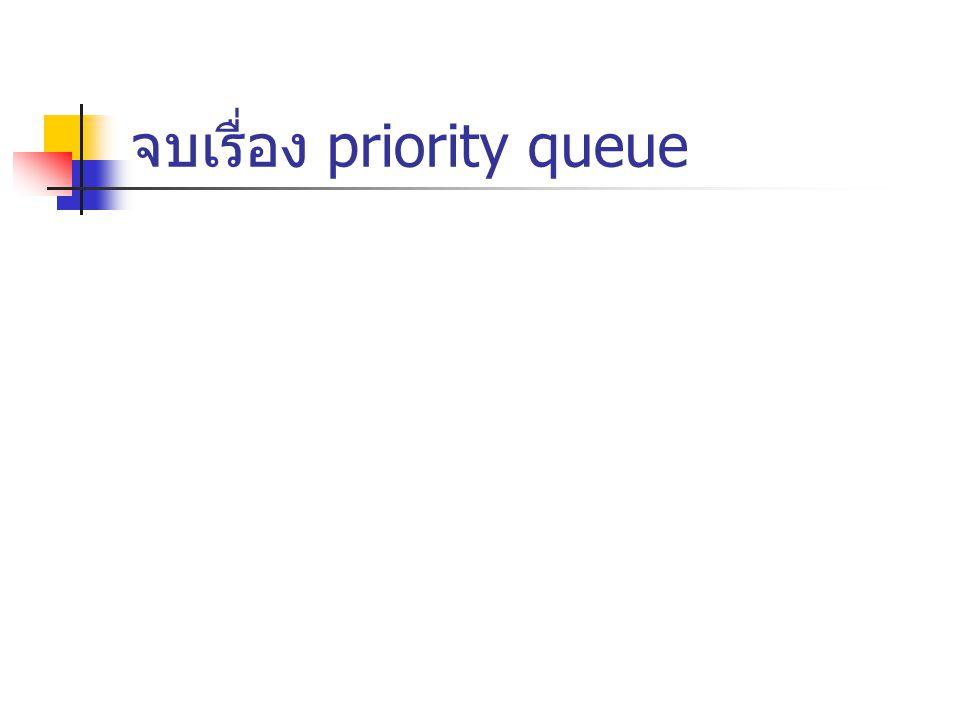 จบเรื่อง priority queue