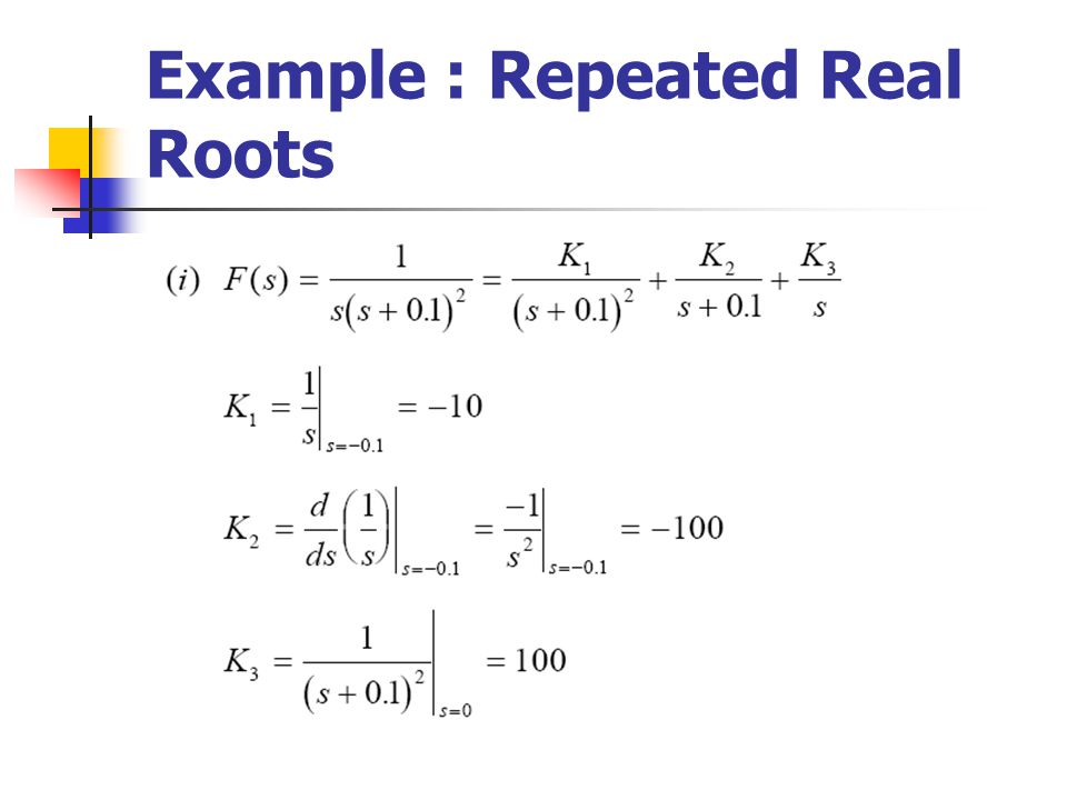 Example : Repeated Real Roots