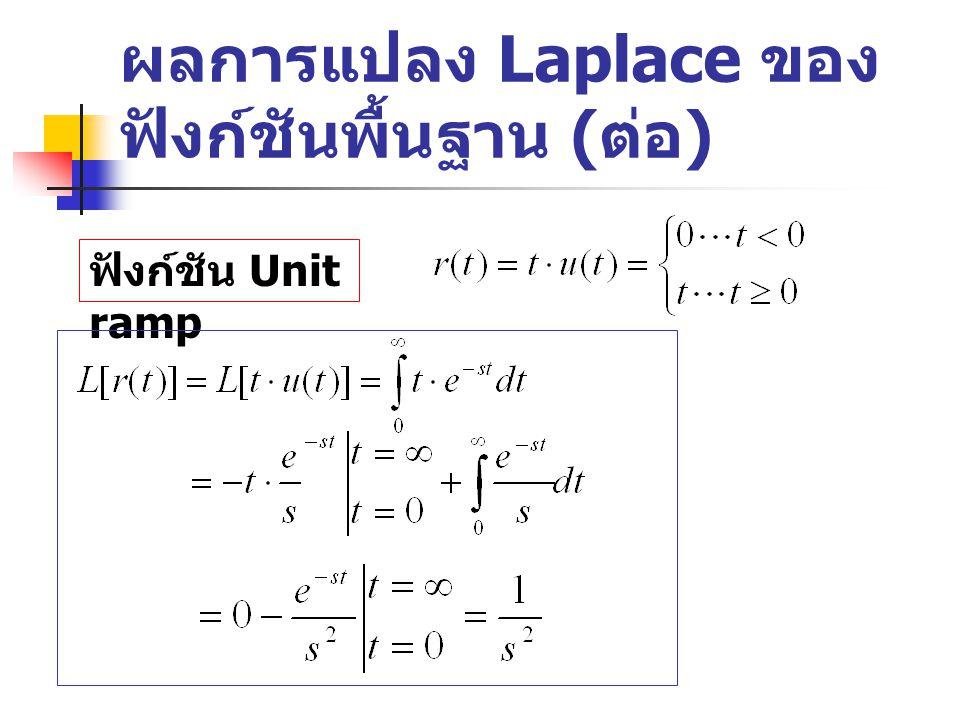 ผลการแปลง Laplace ของฟังก์ชันพื้นฐาน (ต่อ)