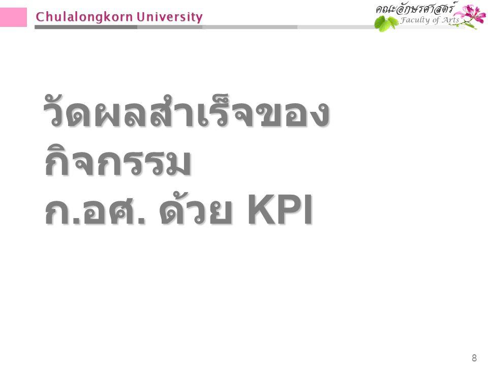 วัดผลสำเร็จของกิจกรรม ก.อศ. ด้วย KPI