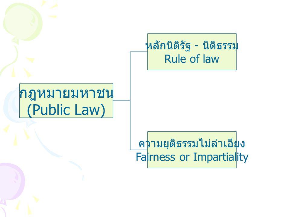 กฎหมายมหาชน (Public Law) หลักนิติรัฐ - นิติธรรม Rule of law