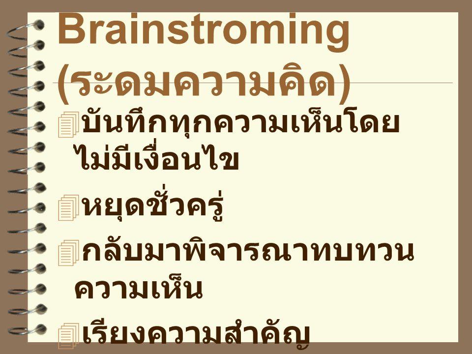 Brainstroming (ระดมความคิด)