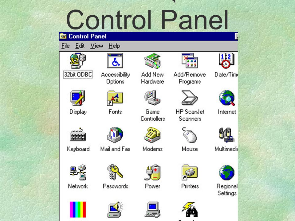การจัดการอุปกรณ์-Control Panel
