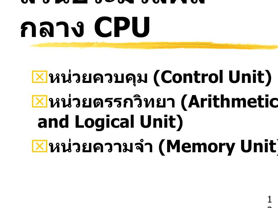 ส่วนประมวลผลกลาง CPU หน่วยควบคุม (Control Unit)