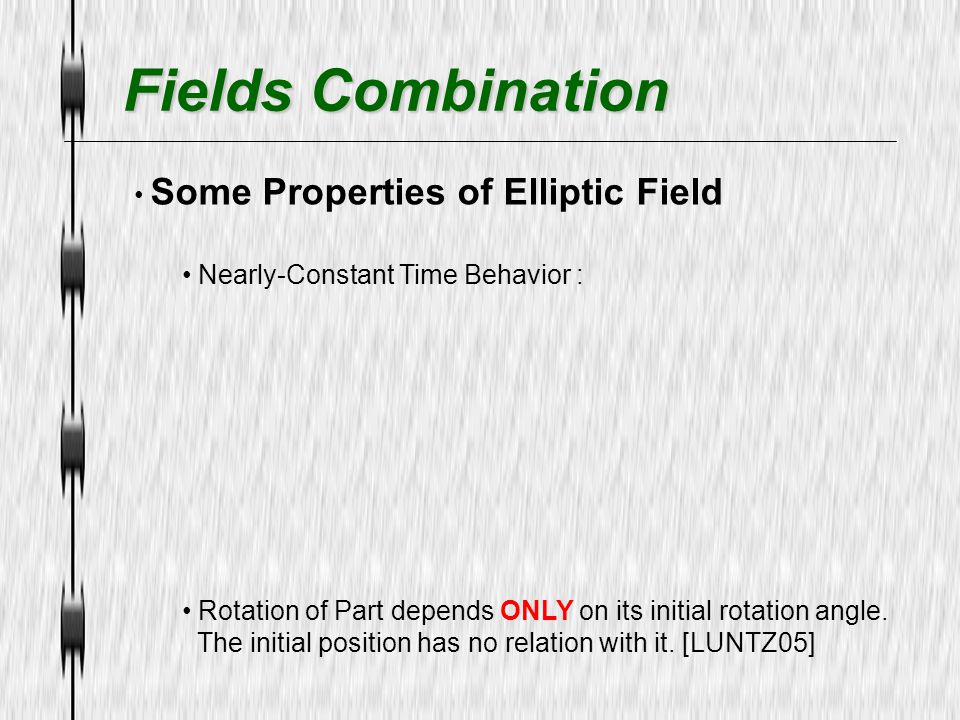Fields Combination Some Properties of Elliptic Field