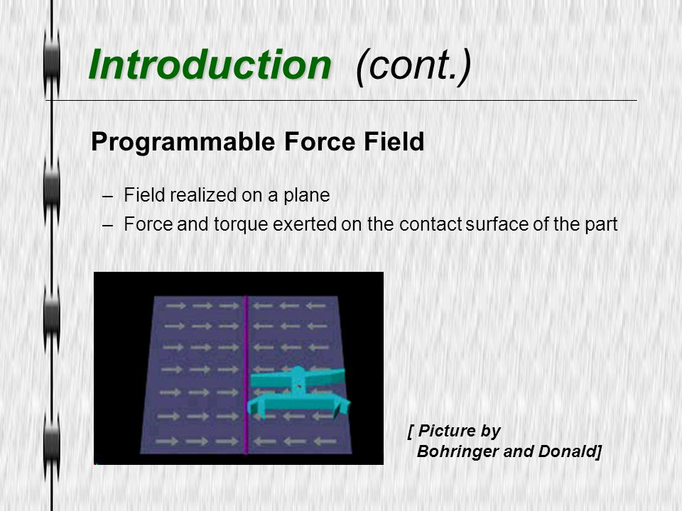 Introduction (cont.) Programmable Force Field