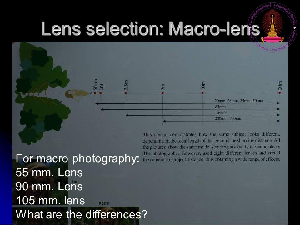 Lens selection: Macro-lens