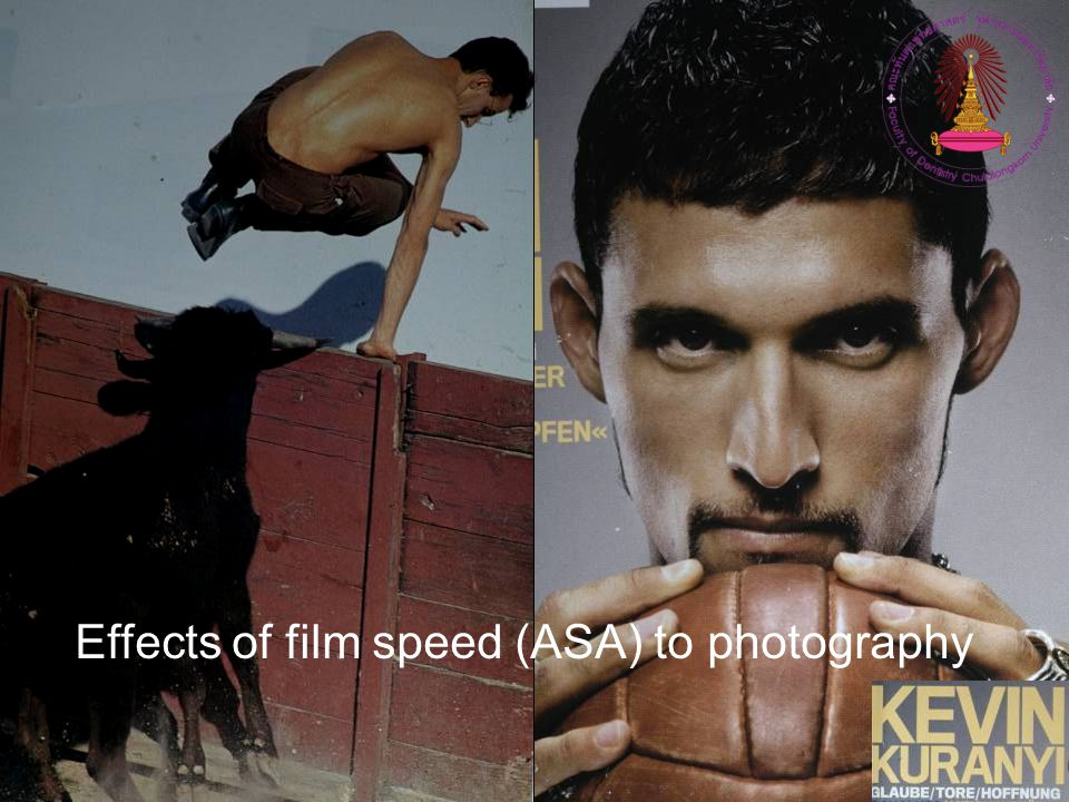 Effects of film speed (ASA) to photography