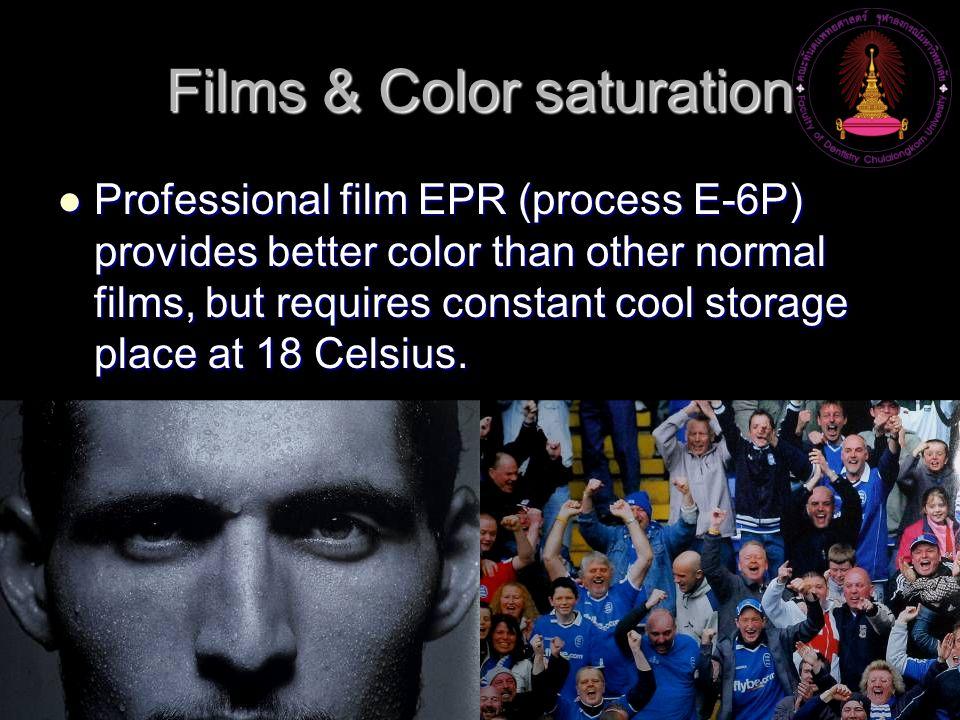 Films & Color saturation