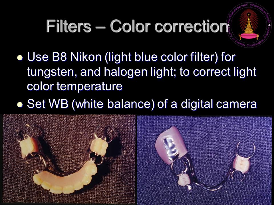 Filters – Color correction