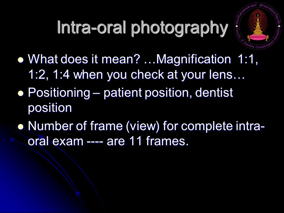 Intra-oral photography