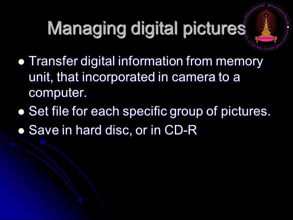 Managing digital pictures