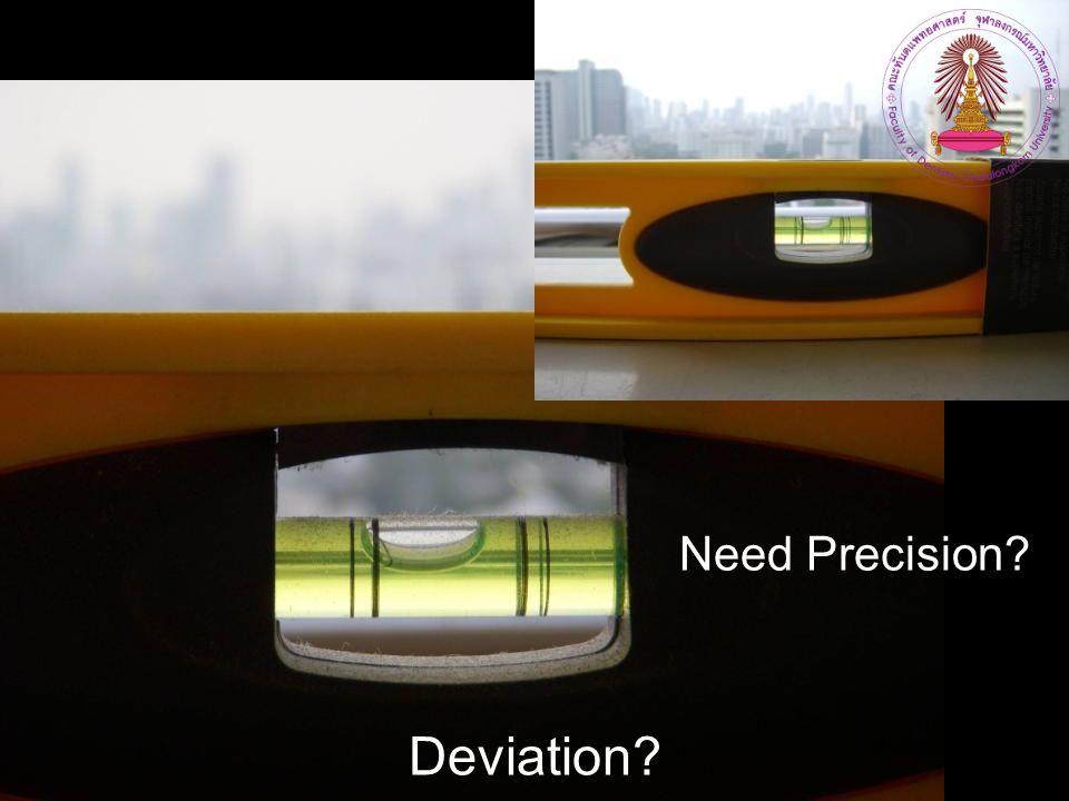 Need Precision Deviation